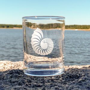 Nautilus Etched Glass
